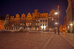 targowa noc stary Poznan Fotografia Royalty Free
