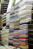 targowa tkaniny sprzedaż Obrazy Royalty Free