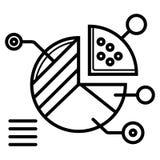 Targowa wektorowa ikona ilustracji