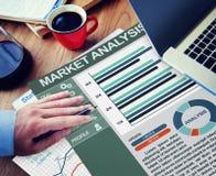 Targowej analizy strategii Biurowy Pracujący pojęcie zdjęcie stock
