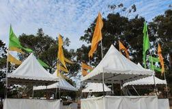 Targowi namioty przy wiejskim karnawałem Fotografia Stock