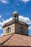Targowy Hall Zegarowy wierza w hulaniu, Francja Obrazy Stock