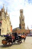 Targowy kwadrat Bruges Belgia obrazy royalty free