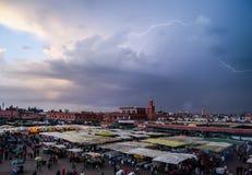 Targowy kwadrat El jemaa, Marrakech Zdjęcie Stock