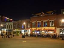 Targowy kwadrat, Knoxville, Tennessee, Stany Zjednoczone Ameryka: [nocy życie w centrum Knoxville] zdjęcie stock