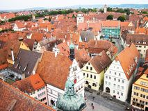 Targowy kwadrat Rothenburg na Tauber zdjęcia stock