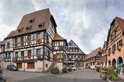 Targowy kwadrat w losie angeles, Alsace, Francja zdjęcia royalty free