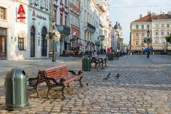 Targowy kwadrat w Lviv, Ukraina Obrazy Royalty Free