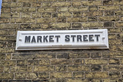 Targowy znak uliczny; Anglia Obraz Stock