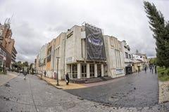 TARGU-JIU, ROMANIA-OCTOBER 08 :2014年10月08日的Elvira Godeanu剧院在Targu-Jiu 免版税库存图片