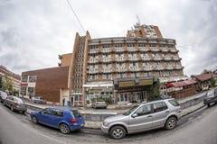 TARGU-JIU, ROMANIA-OCTOBER 08 :2014年10月08日的Gorj旅馆在Targu-Jiu 免版税图库摄影
