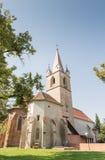 Targu Mures被改革的教会  免版税库存照片
