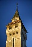 Targu Mures - Oude Stad Hall Tower Stock Afbeeldingen