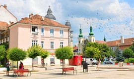 Targu Mures, Rumänien Arkivfoto