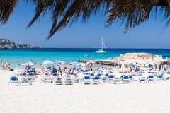 Tarida Strand, Ibiza, Spanien lizenzfreie stockfotos