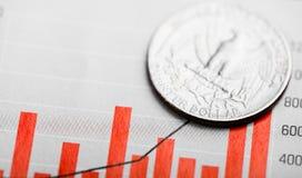 Tarief van de dollar royalty-vrije stock foto's