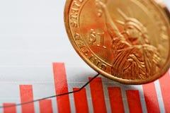 Tarief van ons dollar ondiepe DOF Royalty-vrije Stock Foto