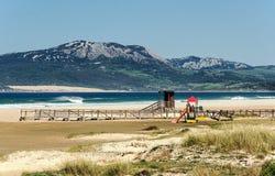 Tarifa παραλία στοκ εικόνα με δικαίωμα ελεύθερης χρήσης