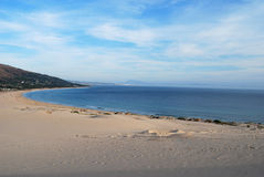 Tarifa. A landscape of the coast of light, in Spain. This is the beach of Punta Paloma Royalty Free Stock Photography