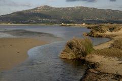 Tarifa lagoons, Tafifa beach Stock Images