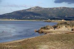Tarifa lagoons, Tafifa beach Stock Photography