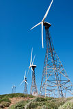 Tarifa wind mills with sky Royalty Free Stock Images