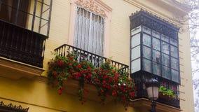 Tarifa Windows. Architectural beauty in Tarifa, Spain Royalty Free Stock Photography