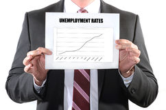 Tarifas del desempleo creciente foto de archivo libre de regalías