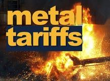 Tarifas del metal, guerra comercial imagen de archivo libre de regalías