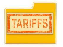 Tarifas do comércio do trunfo em China como o dever e a pena - ilustração 3d ilustração do vetor