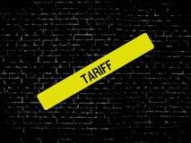 TARIFF - bild med ord som förbinds med ämneSJUKFÖRSÄKRINGEN, ord, bild, illustration royaltyfri illustrationer