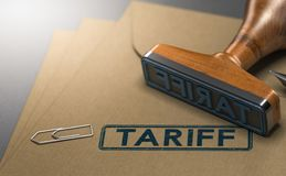 Tariff, Taxes on Imported Goods Stock Images