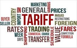 TARIFF - word cloud Stock Images