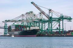 Tariffs and Trade War cargo container ship Stock Photo