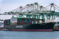 Tariffs and Trade War cargo container ship Stock Photos
