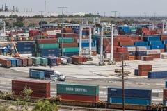 Tariffs and Trade War cargo shipping yard Royalty Free Stock Images