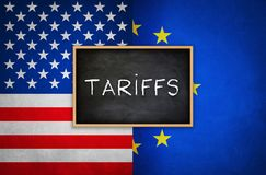 Tariffs between United States and the European Union Royalty Free Stock Photography