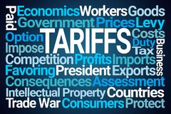 Tariffs Word Cloud royalty free stock photos
