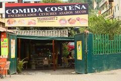 Tarinacuy restaurang i Banos, Ecaudor Royaltyfria Bilder