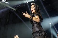 Tarja auf Konzert Lizenzfreie Stockfotografie