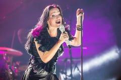 Tarja auf Konzert Lizenzfreies Stockfoto