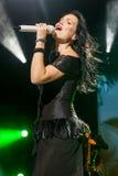 Tarja auf Konzert Stockfotografie