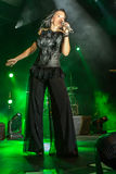 Tarja on concert Royalty Free Stock Images