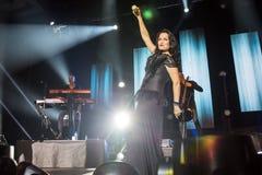 Tarja on concert Royalty Free Stock Photos