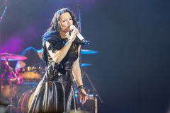 Tarja on concert Royalty Free Stock Photography
