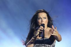 Tarja at Masters of Rock 2010. Tarja at Masters of Rock festival in Czech republic, summer 2010 Stock Photo