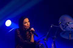 Tarja Turunen in concert Royalty Free Stock Photography