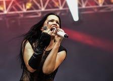 Tarja Turunen live concert in Hellfest festival 2016 Stock Image