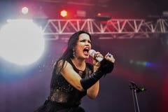 Tarja Turunen live in Hellfest festival 2016 Royalty Free Stock Photo