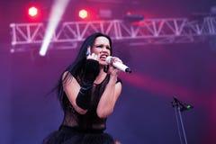 Tarja Turunen live in Hellfest festival 2016. Tarja Soile Susanna Turunen-Cabuli generally known as Tarja Turunen or simply Tarja, is a Finnish singer-songwriter Royalty Free Stock Images